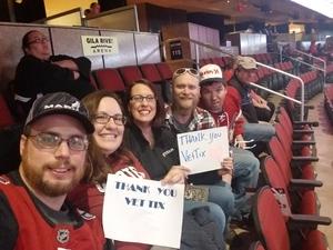James attended Arizona Coyotes vs. Dallas Stars - NHL on Feb 1st 2018 via VetTix