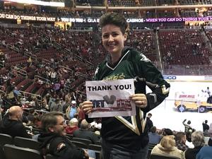 Danielle attended Arizona Coyotes vs. Dallas Stars - NHL on Feb 1st 2018 via VetTix