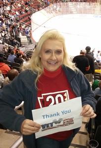 Annette attended Arizona Coyotes vs. Dallas Stars - NHL on Feb 1st 2018 via VetTix