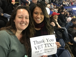 Cherrielyn attended PBR - 25th Anniversary - Unleash the Beast - Tickets Good for Sunday Only. on Jan 14th 2018 via VetTix
