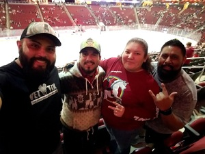 Thomas attended Arizona Coyotes vs. San Jose Sharks - NHL on Jan 16th 2018 via VetTix