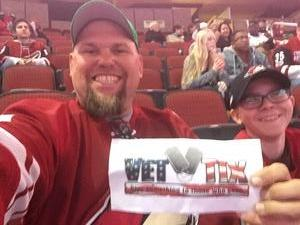 Edward attended Arizona Coyotes vs. San Jose Sharks - NHL on Jan 16th 2018 via VetTix