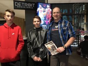 Jeff attended Detroit Pistons vs. New Orleans Pelicans - NBA on Feb 12th 2018 via VetTix