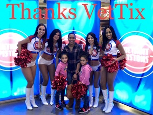 The Brown Family attended Detroit Pistons vs. Chicago Bulls - NBA on Mar 9th 2018 via VetTix