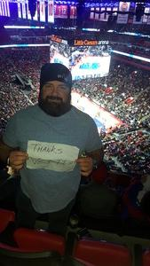 Kevin attended Detroit Pistons vs. Dallas Mavericks - NBA on Apr 6th 2018 via VetTix