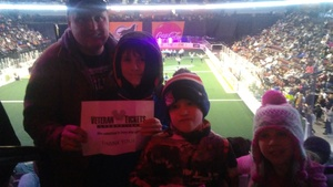 william attended New England Black Wolves vs. Colorado Mammoth - National Lacrosse League on Feb 18th 2018 via VetTix