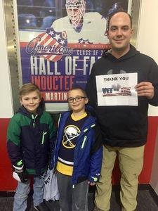 Eric attended Rochester Americans vs. Wilkes-barre Scranton Penguins - AHL on Feb 16th 2018 via VetTix