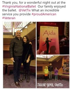 mat attended Aida - World Premiere - Performed by Virginia National Ballet - Evening on Feb 17th 2018 via VetTix