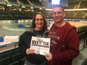 Brandy attended Motorcyles on Ice - Xtreme International Ice Racing on Jan 27th 2018 via VetTix