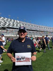 Gary attended Daytona 500 - the Great American Race - Monster Energy NASCAR Cup Series on Feb 18th 2018 via VetTix
