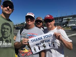 William attended Daytona 500 - the Great American Race - Monster Energy NASCAR Cup Series on Feb 18th 2018 via VetTix