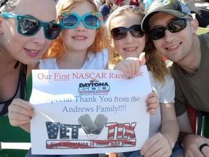 Justin Andrews attended Daytona 500 - the Great American Race - Monster Energy NASCAR Cup Series on Feb 18th 2018 via VetTix