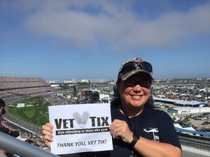 Jennifer attended Daytona 500 - the Great American Race - Monster Energy NASCAR Cup Series on Feb 18th 2018 via VetTix