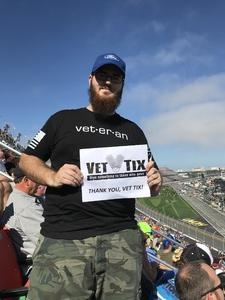 Michael attended Daytona 500 - the Great American Race - Monster Energy NASCAR Cup Series on Feb 18th 2018 via VetTix
