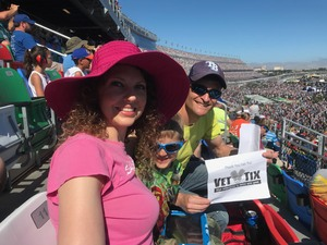 Adam attended Daytona 500 - the Great American Race - Monster Energy NASCAR Cup Series on Feb 18th 2018 via VetTix