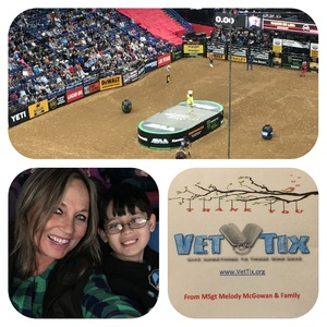 MSgt Melody McGowan attended PBR - 25th Anniversary - Unleash the Beast - Tickets Good for Sunday Only. on Feb 18th 2018 via VetTix