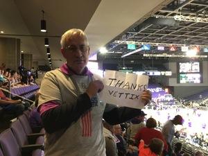Edwin attended Grand Canyon University vs. Chicago State - NCAA Men's Basketball - God Bless America Night on Feb 3rd 2018 via VetTix