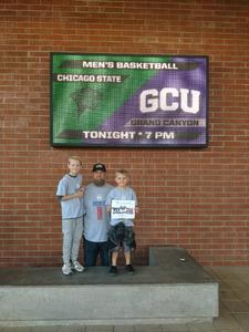 Joshua attended Grand Canyon University vs. Chicago State - NCAA Men's Basketball - God Bless America Night on Feb 3rd 2018 via VetTix