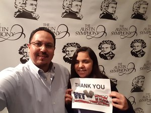 daniel attended Triumph Over Fate - Presented by the Austin Symphony on Feb 24th 2018 via VetTix