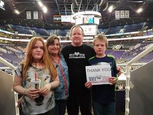 Bruce attended Phoenix Suns vs. Charlotte Hornets - NBA on Feb 4th 2018 via VetTix