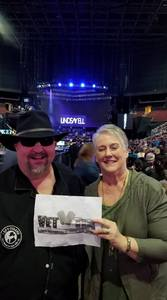 Robin attended Brad Paisley - Weekend Warrior World Tour With Dustin Lynch, Chase Bryant and Lindsay Ell on Jan 27th 2018 via VetTix