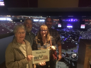 Rob attended Brad Paisley - Weekend Warrior World Tour With Dustin Lynch, Chase Bryant and Lindsay Ell on Jan 27th 2018 via VetTix