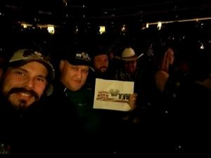 Dominick attended Brad Paisley - Weekend Warrior World Tour With Dustin Lynch, Chase Bryant and Lindsay Ell on Jan 27th 2018 via VetTix