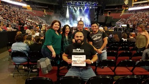 Thomas attended Brad Paisley - Weekend Warrior World Tour With Dustin Lynch, Chase Bryant and Lindsay Ell on Jan 27th 2018 via VetTix