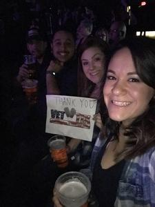 Nicole attended Brad Paisley - Weekend Warrior World Tour With Dustin Lynch, Chase Bryant and Lindsay Ell on Jan 27th 2018 via VetTix