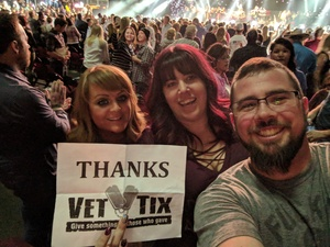 Kyle attended Brad Paisley - Weekend Warrior World Tour With Dustin Lynch, Chase Bryant and Lindsay Ell on Jan 27th 2018 via VetTix
