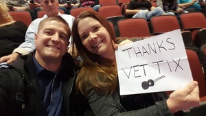 Jesse attended Brad Paisley - Weekend Warrior World Tour With Dustin Lynch, Chase Bryant and Lindsay Ell on Jan 27th 2018 via VetTix