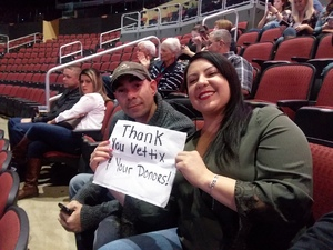 Delilah attended Brad Paisley - Weekend Warrior World Tour With Dustin Lynch, Chase Bryant and Lindsay Ell on Jan 27th 2018 via VetTix
