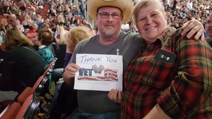 johnny attended Brad Paisley - Weekend Warrior World Tour With Dustin Lynch, Chase Bryant and Lindsay Ell on Jan 27th 2018 via VetTix
