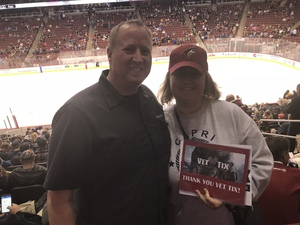 Daniel attended Arizona Coyotes vs. Dallas Stars - NHL on Feb 1st 2018 via VetTix