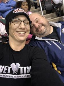 Casey attended Arizona Coyotes vs. Dallas Stars - NHL on Feb 1st 2018 via VetTix