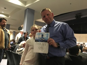 John attended Beethoven and Brahms - Presented by the Columbia Orchestra on Jan 27th 2018 via VetTix