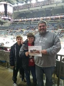Adam attended Fort Wayne Komets vs. Wichita Thunder - ECHL on Feb 7th 2018 via VetTix