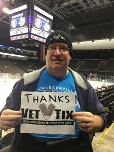 Kent attended Jacksonville Icemen vs. Atlanta Gladiators - ECHL on Feb 10th 2018 via VetTix
