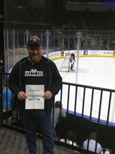 Timothy attended Jacksonville Icemen vs. Allen Americans - ECHL on Feb 11th 2018 via VetTix