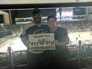 Joseph attended Jacksonville Icemen vs. Allen Americans - ECHL on Feb 11th 2018 via VetTix