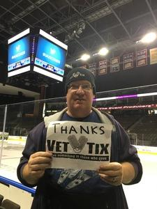 Kent attended Jacksonville Icemen vs. Allen Americans - ECHL on Feb 11th 2018 via VetTix