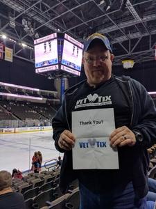 Timothy attended Jacksonville Icemen vs. Norfolk Admirals - ECHL on Feb 23rd 2018 via VetTix