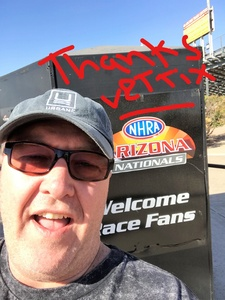 Shawn attended NHRA Mello Yello Drag Racing Series Presents: Nitro Spring Training on Feb 3rd 2018 via VetTix