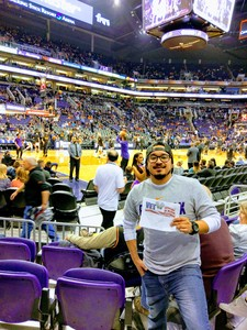 Anthony attended Phoenix Suns vs. San Antonio Spurs - NBA on Feb 7th 2018 via VetTix