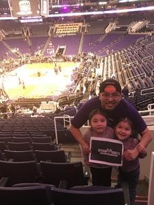 Arsenio attended Phoenix Suns vs. San Antonio Spurs - NBA on Feb 7th 2018 via VetTix