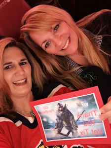 Renee attended Florida Panthers vs. Detroit Red Wings - NHL on Feb 3rd 2018 via VetTix