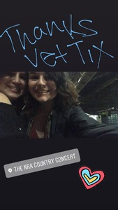 todd attended NRA Country Concert Featuring Granger Smith and Locash With Special Guests Earl Dibbles, Jr. And Nate Hosie on Feb 10th 2018 via VetTix
