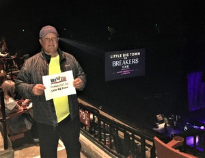 Larry attended The Breakers Tour Featuring Little Big Town With Kacey Musgraves and Midland on Feb 9th 2018 via VetTix