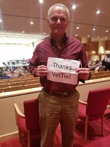 Dale attended Symphony Hall Presents: Beethoven and Mozart - Sunday Matinee on Feb 11th 2018 via VetTix