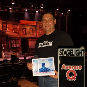 Ross attended Avenue Q on Mar 14th 2018 via VetTix